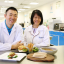 Ricky Lin (left), founder of Life3 Biotech, and Dr Leong Lai Peng, senior lecturer in the NUS Department of Chemistry's Food Science and Technology Programme. Photo: Koh Mui Fong/TODAY