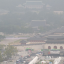 Foggy air contaminated with fine dust in Gwanghwamun, Seoul, Tuesday. Photo: Yonhap