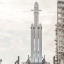SpaceX Falcon Heavy sat on a launch pad. Photo: SpaceX