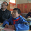 Headmaster Feng Ping and his three students in their classroom at Lumacha primary school, Dingxi, Gansu province. Photo: SCMP