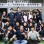 Zainichi Korean Kim Song-ran, right, poses at a Zainichi school reunion commemorating the 70th anniversary of Fukushima Korean School's foundation. Photo: Kim Song-rang