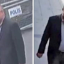 Journalist Jamal Khashoggi (left) enters the Saudi consulate on October 2. Later in the day, after Khashoggi's killing in the consulate, a man is seen in what appears to be Khashoggi's clothes. Photos: CNN