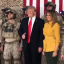 US President Donald Trump poses with US special operations troops during a visit to the Al-Asad Air Base in Iraq on Wednesday. The image is taken from a video Trump posted on his Twitter account showing the secret troops in full combat gear, including night-vision goggles. Photo: Twitter/realDonaldTrump