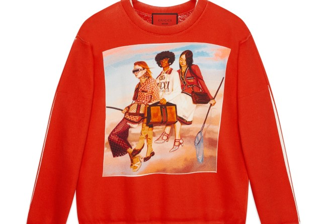 Gucci launches sweatshirts and T-shirts in collaboration with artist