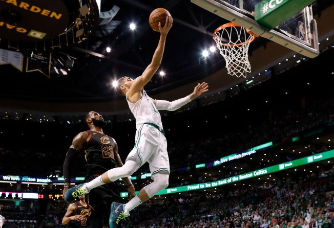 brand new 39874 7eb5a Boston Celtics beat Cleveland Cavaliers 96-83 in game five to lead NBA  Eastern finals 3-2   South China Morning Post