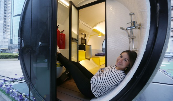 The OPod proved cozy, yet roomy, even for a tall person.