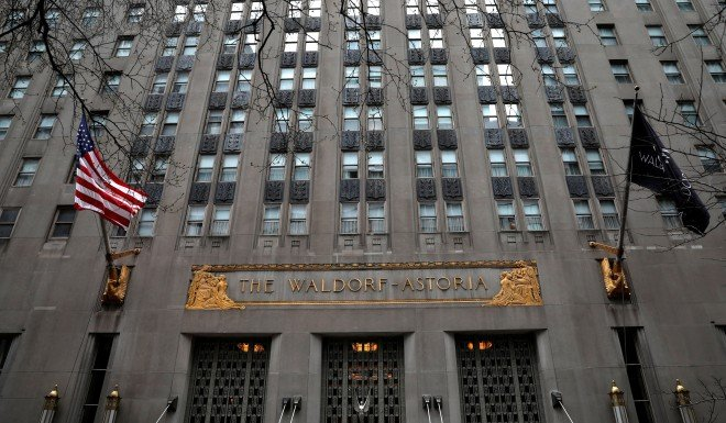 Anbang is known for its purchase of the landmark Waldorf Astoria Hotel in New York City.