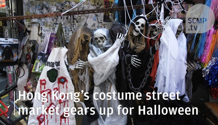 e4ad2197ad4 Ghoulish masks and outfits on offer as Hong Kong's costume street market  gears up for Halloween