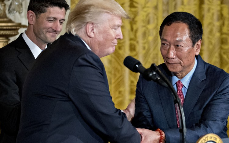 Foxconn Bets Big on U.S. Expansion, Trump and Demand for Tech Devices