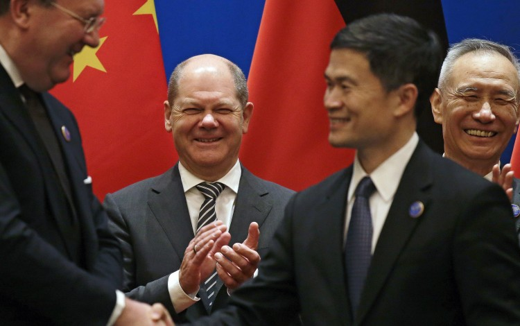 Germany And China Set Aside Differences To Stress Importance Of Cooperation In Uncertain Economic Climate