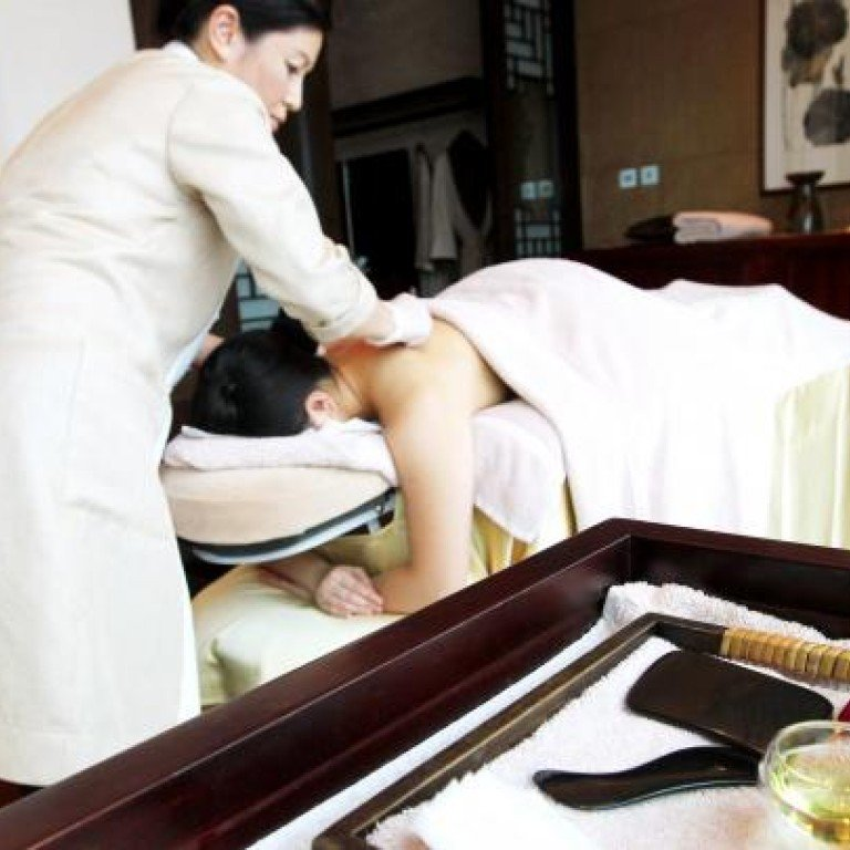 Traditional Chinese medicine's scraping treatment put to the
