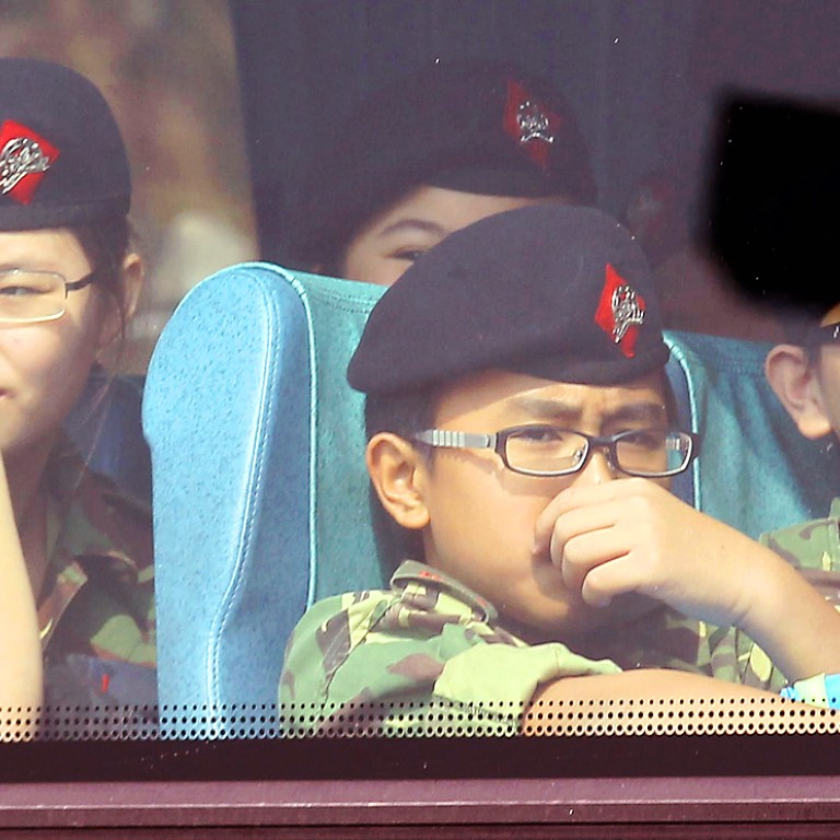 93c5bad6e38 Hong Kong army cadets  drafted in students to boost member numbers  at  secretive inauguration