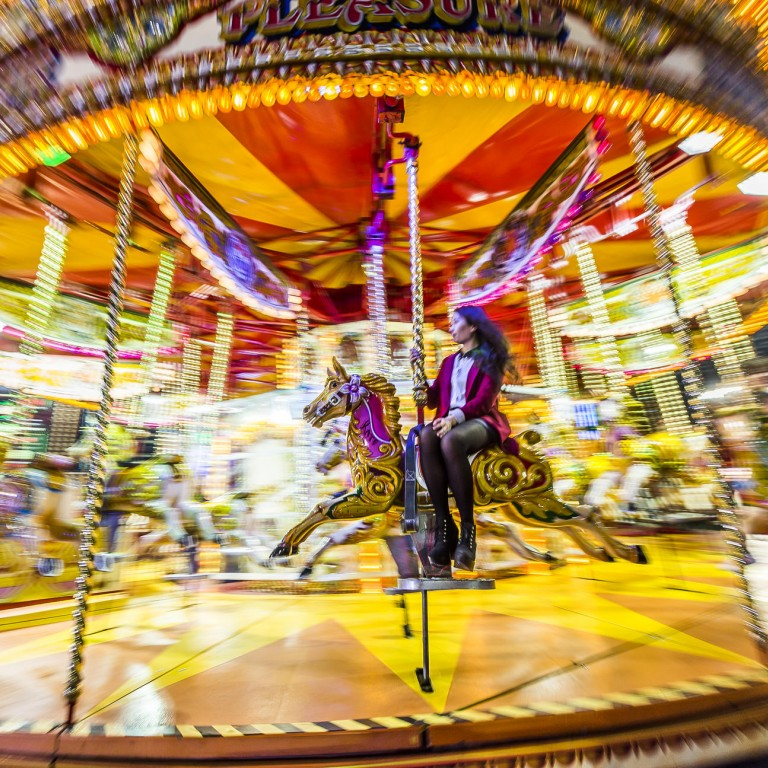 3d53499fbe The carousel at the AIA Great European Carnival in Central.