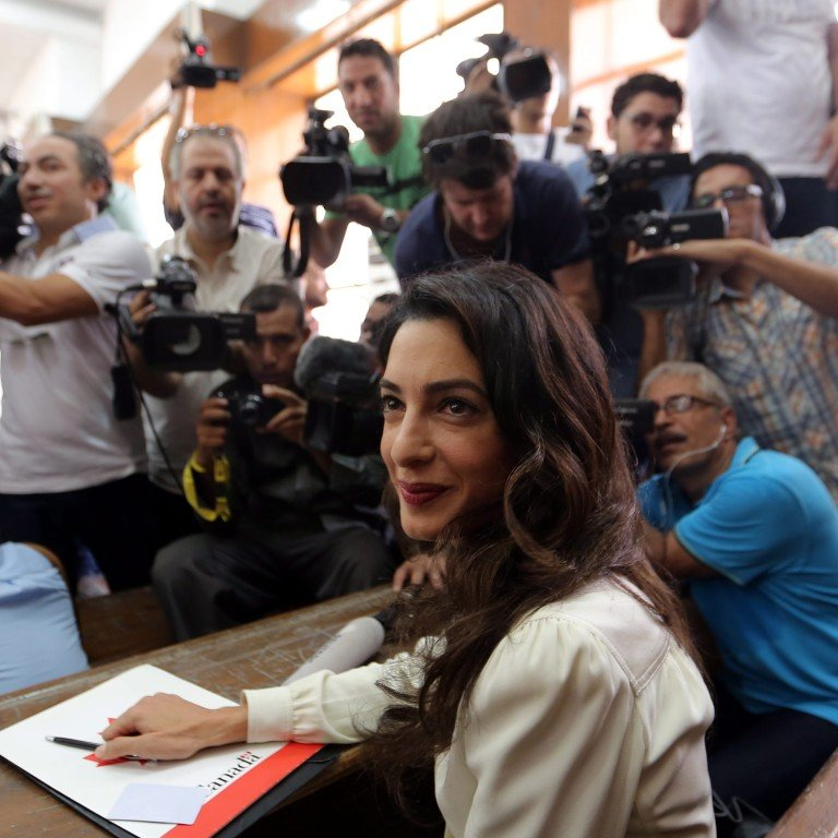 High-profile human rights lawyer Amal Clooney vows to secure former
