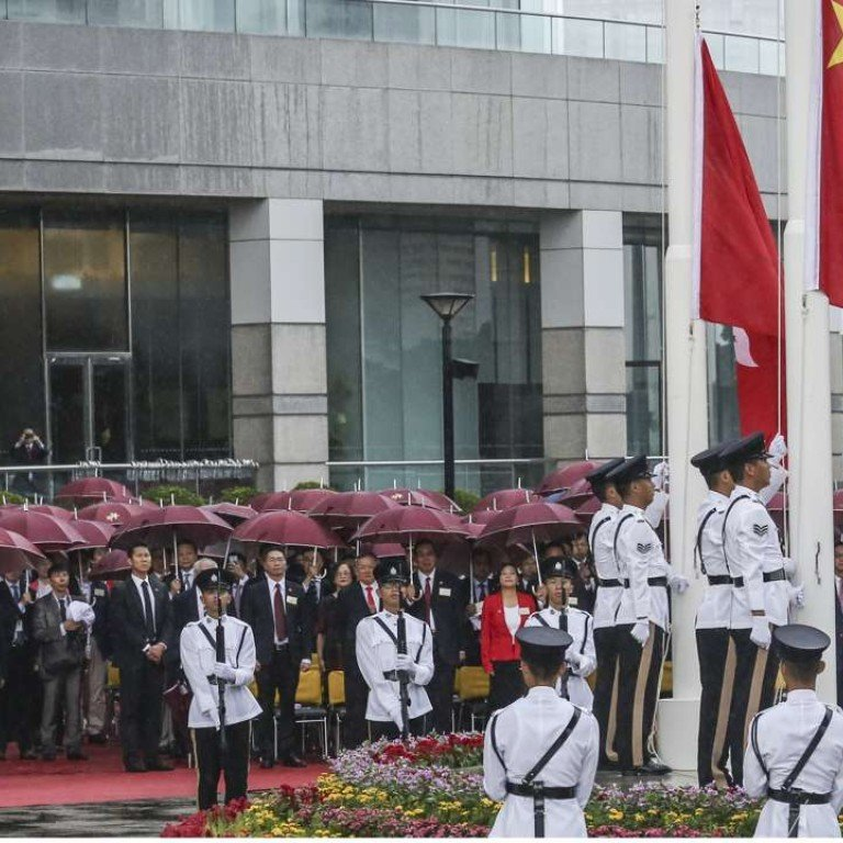 Wet weather marks flag-raising ceremony for 67th National