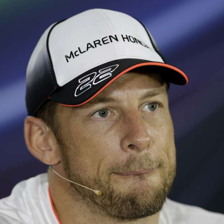 2364e44381b38 McLaren driver Jenson Button announces his retirement at a press conference  in Abu Dhabi on Thursday