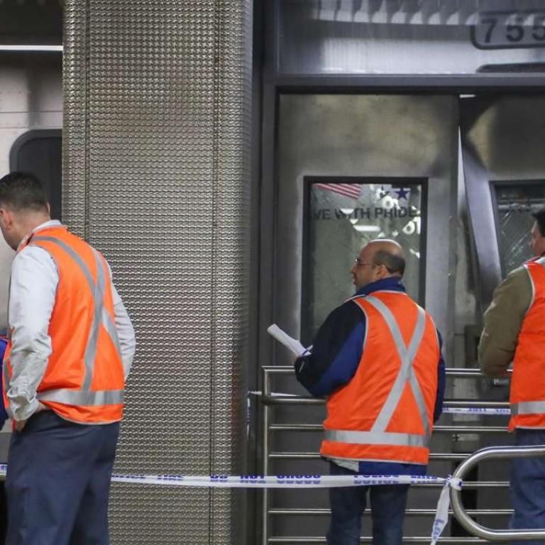 New York City commuter train derails in Brooklyn, injures
