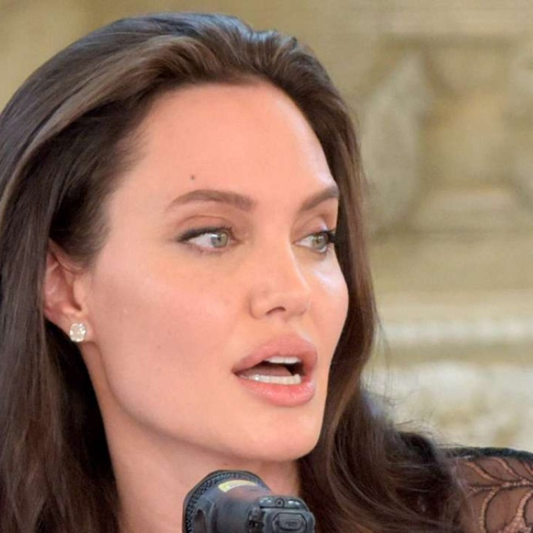 3ae1d7ca4d1b Hollywood star Angelina Jolie during a press conference in Siem Reap.  Photo  AFP