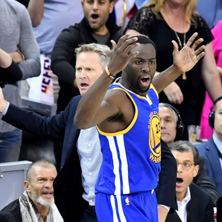 a40dd9fc4 Steve Kerr and Draymond Green react to the call against the Cleveland  Cavaliers during the first