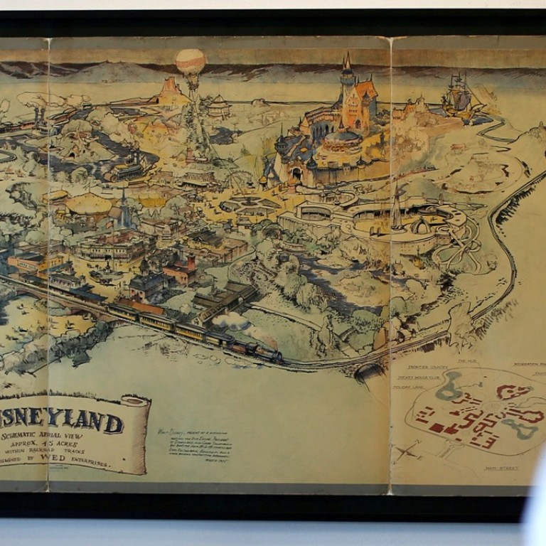 Walt Disney Commissioned Hand Drawn Map Of Disneyland Sold For Us
