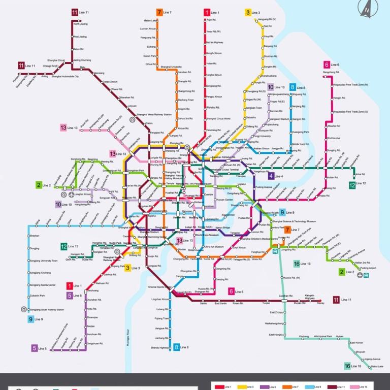 Shanghai Metro Map 2016.Shanghai Metro Keeping World S Longest Mass Transit Rail System On