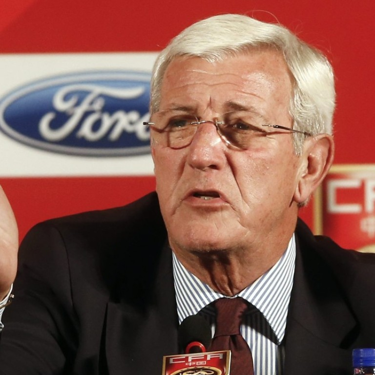 Marcello Lippi was appointed China coach in October 2016. Photo: EPA