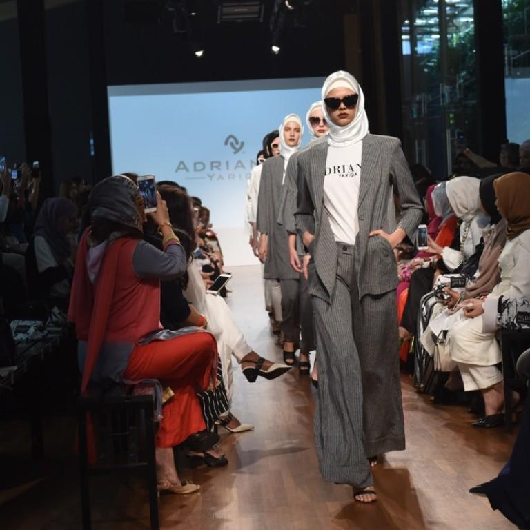27760ff5b358 Singaporean Adrianna Yariqa presented sharply cut garments for the hijabi  career woman.