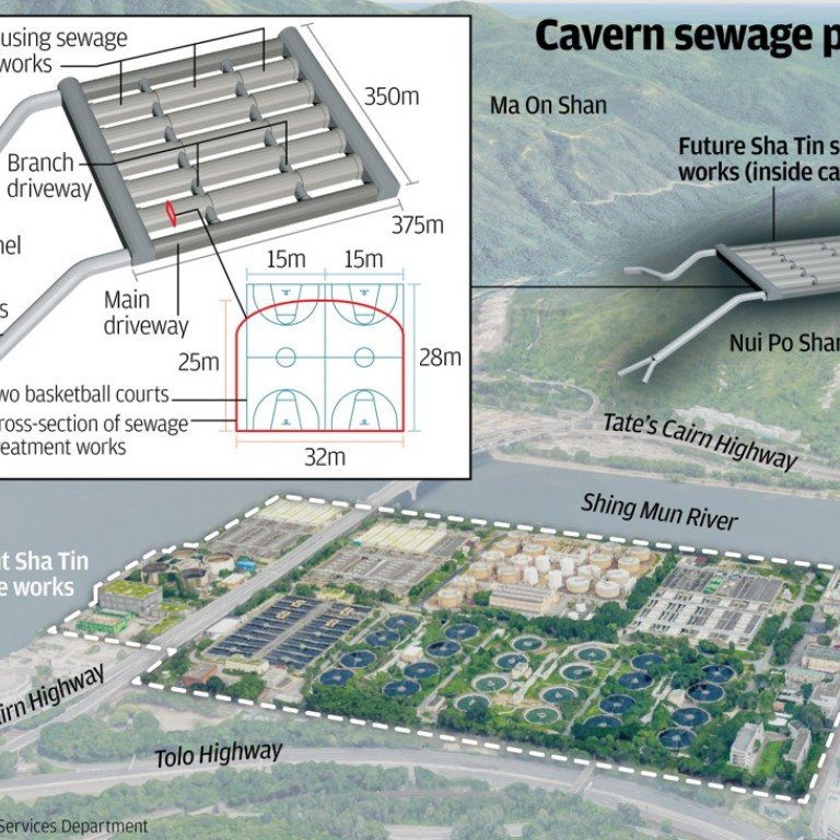Hong Kong sewage plant to move into caverns in 11-year plan
