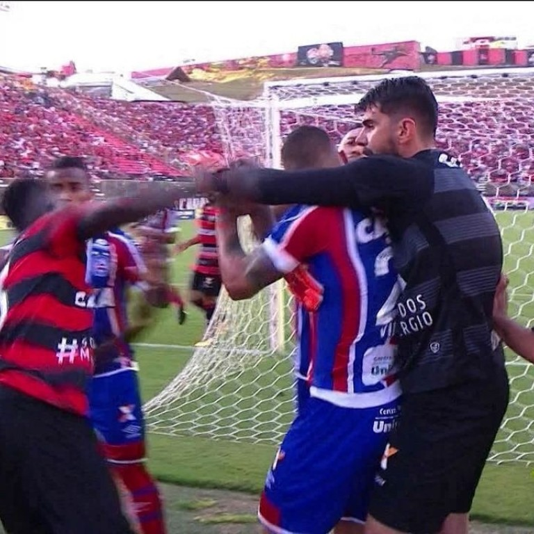 Ten Red Cards As Brazilian Soccer Derby Between Bahia And