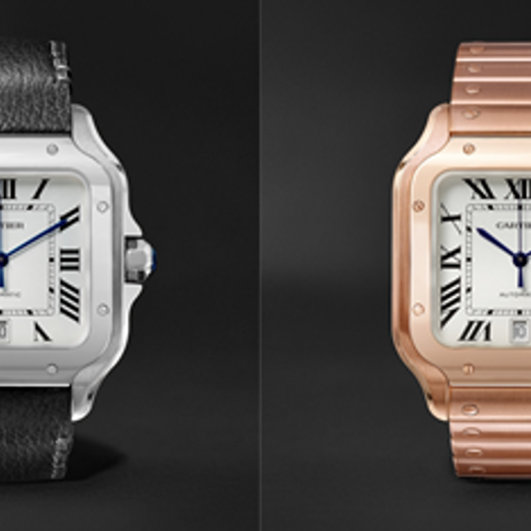 f68afdaa86b31 New Santos de Cartier watch collection to be available on MR PORTER ...