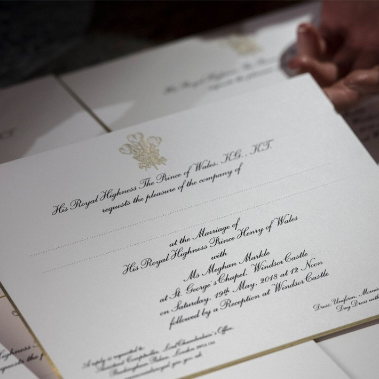 have you seen prince harry and meghan markle s stunning royal wedding invitations south china morning post have you seen prince harry and meghan