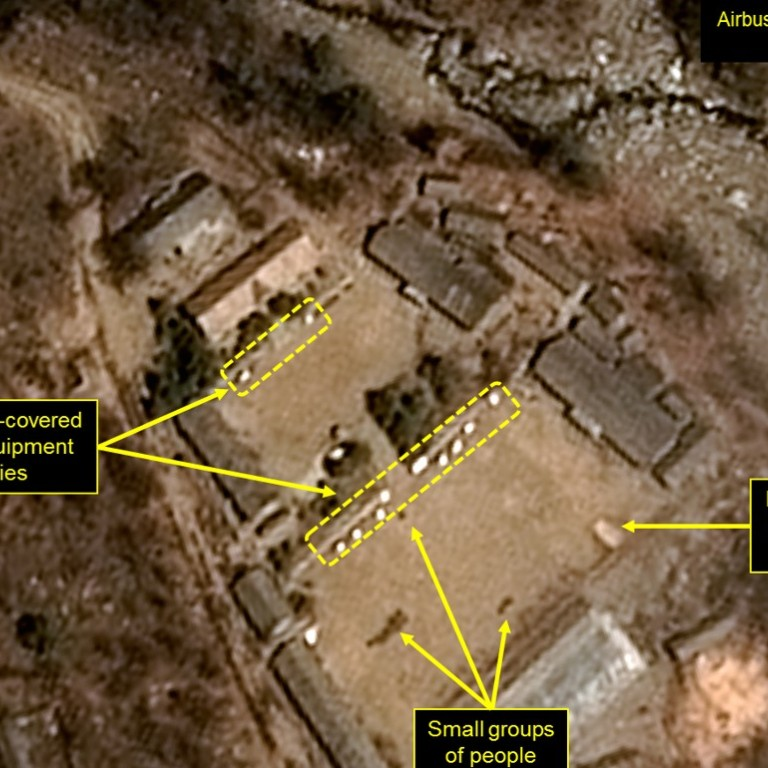 North Korea's nuclear test site has collapsed     and that