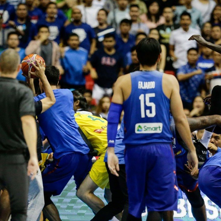 8ffa901bd A brawl erupts between players from the Philippines and Australia during  the Basketball World Cup 2019
