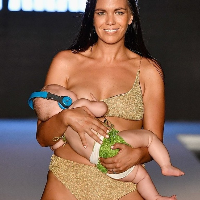 Empowering Or A Farce Sports Illustrated Swimsuit Model Mara Martin Breastfeeds On Catwalk South China Morning Post