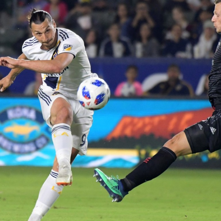 cheap for discount 425d6 678c0 Zlatan Ibrahimovic guides LA Galaxy past Orlando City with ...