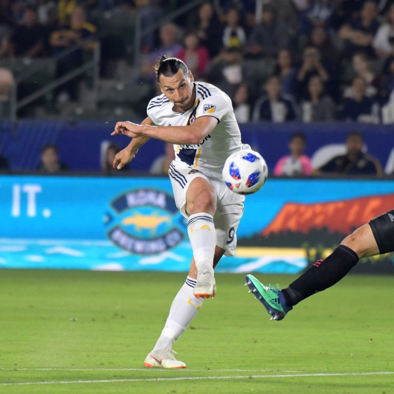 LA Galaxy forward Zlatan Ibrahimovic registered his first MLS hat-trick  against Orlando City on 8f274ee09