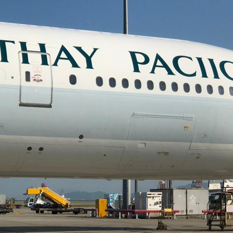 Cathay Pacific aeroplane gets new paint job, complete with