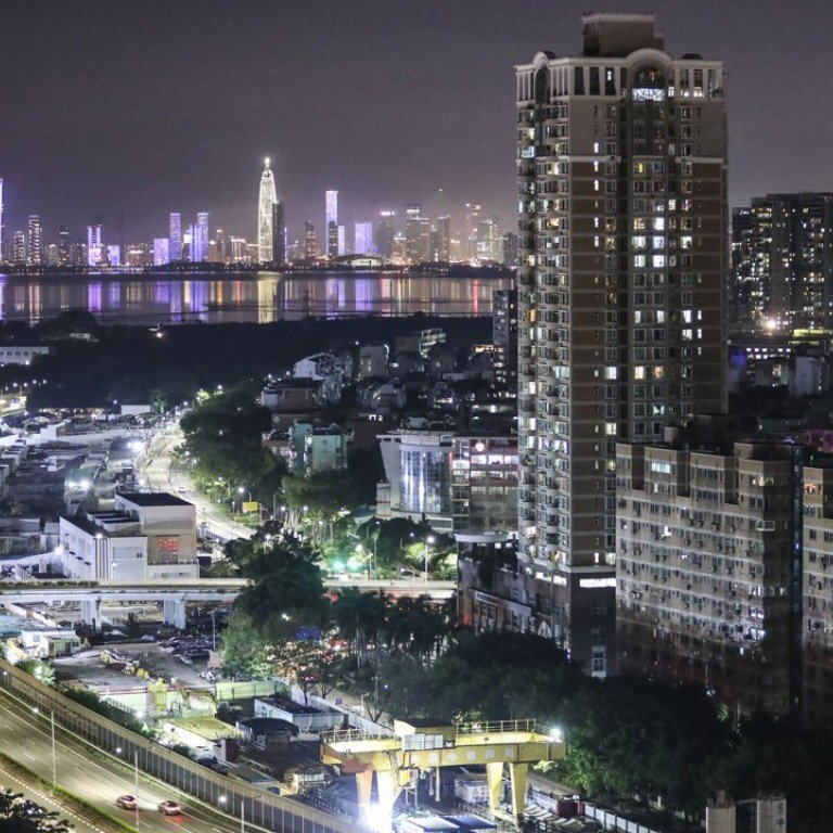 A night view showing the Beijing-Hong Kong-Macau expressway taken from the Futian district of Shenzhen, which is one of 11 cities included in the Greater Bay Area project. Photo: Roy Issa