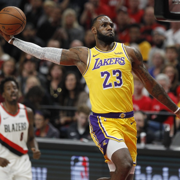 Los Angeles Lakers forward LeBron James had a fine debut, but it wasn't enough to lift his team to victory in their season curtain-raiser. Photo: EPA