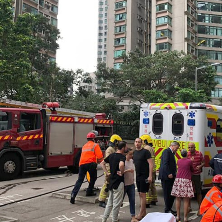 Hong Kong mother and son taken to hospital after car ploughs