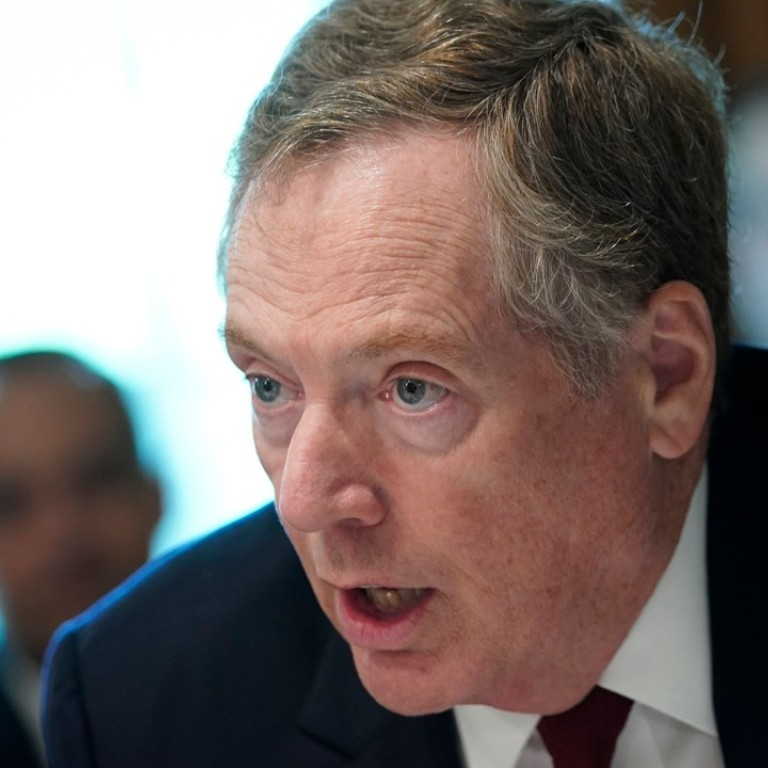 US Trade Representative Robert Lighthizer takes part in a cabinet meeting in the Cabinet Room of the White House in August. Photo: AFP