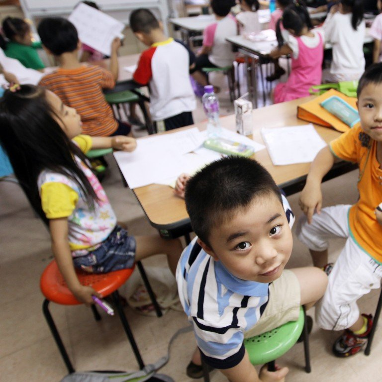 Home-alone children learning English at a childcare centre in Sham Shui Po. The government's move to improve childcare services is commendable, but its proposed measures won't effectively facilitate child development. Photo: Edward Wong