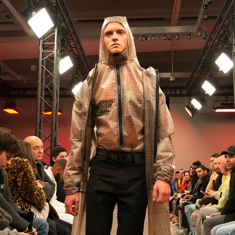 c0c11090028 A model presents a creation from Tuesday s fall winter 2019-20 men s  collection show