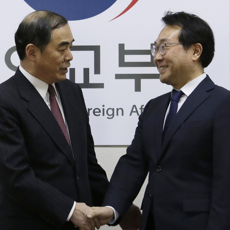 China and South Korea vow to work for permanent peace on