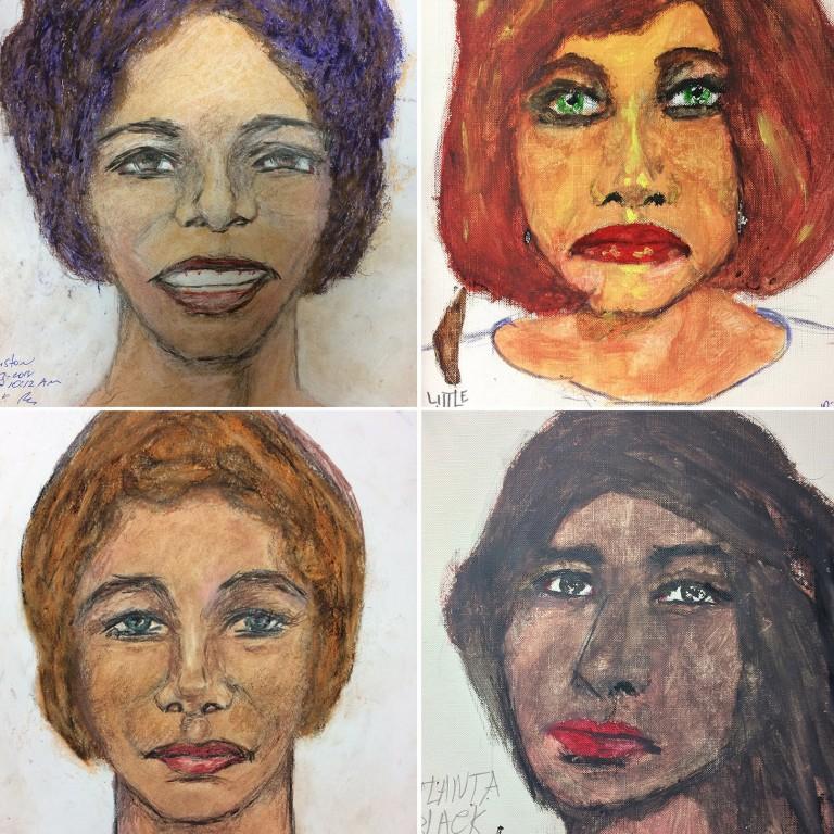 US serial killer Samuel Little drew these haunting portraits