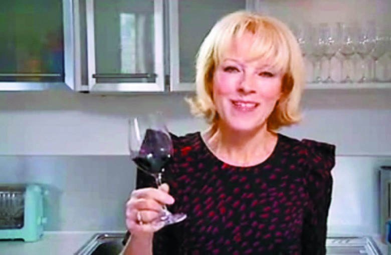Wine critic and television presenter Jilly Goolden.