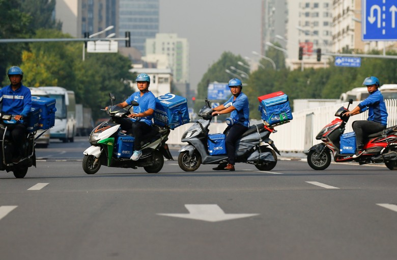 The tough, daring drivers behind China's food delivery craze