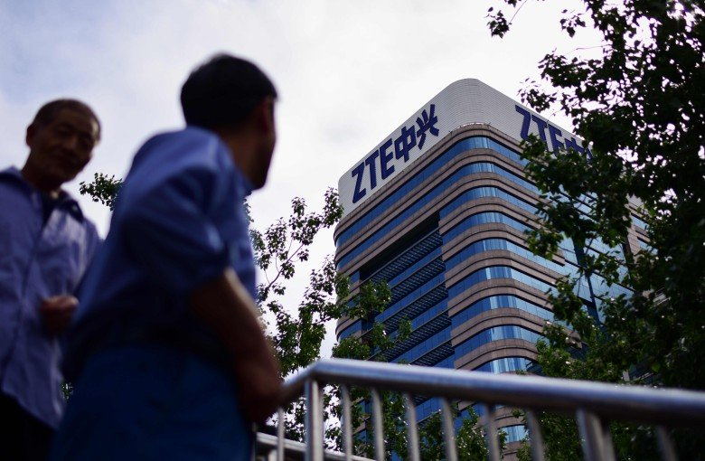 ZTE shares plunge as senators fight to cut Trump's lifeline