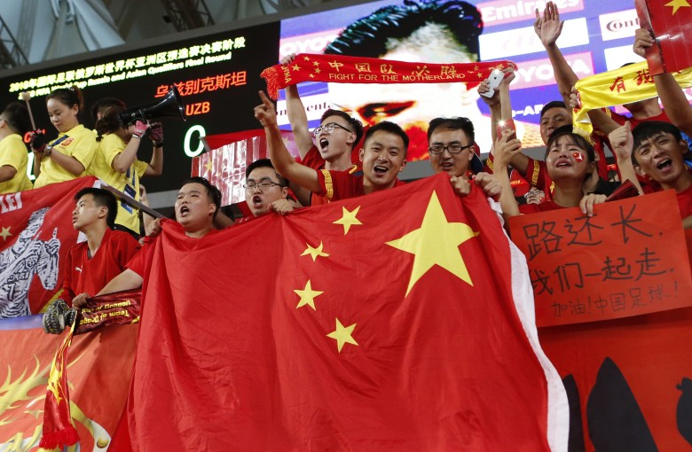 Chinese soccer fans boo TV maker's World Cup ad