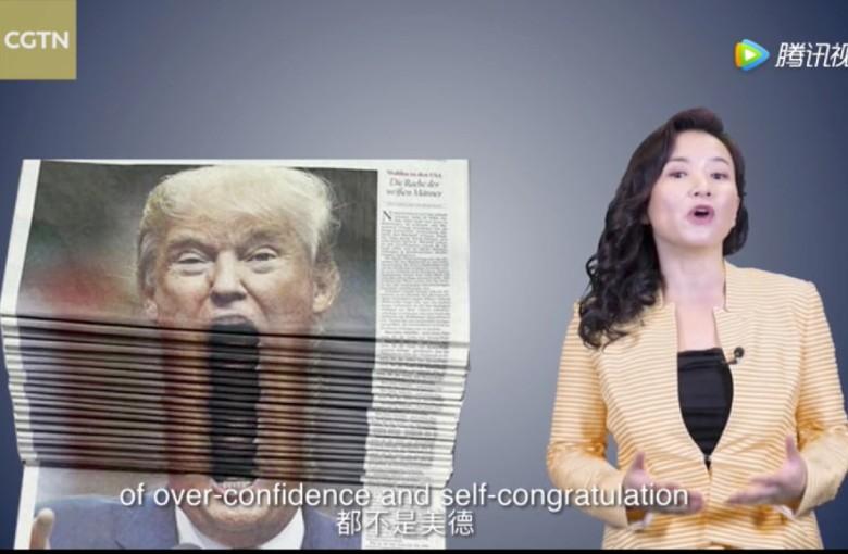 Chinese state media: Thanks, Mr Trump